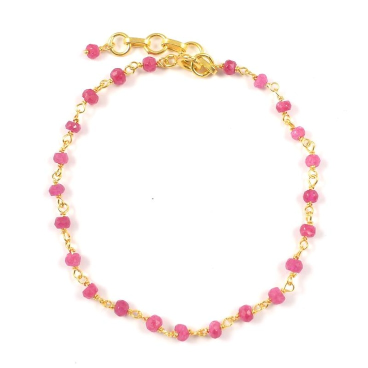 Pomegranate London Ruby Rosary Bracelet at aquaruby.com