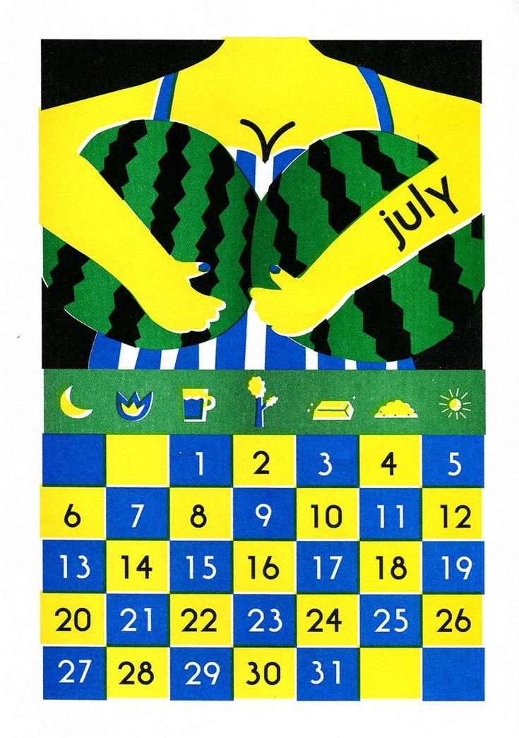 july calendar - popurri