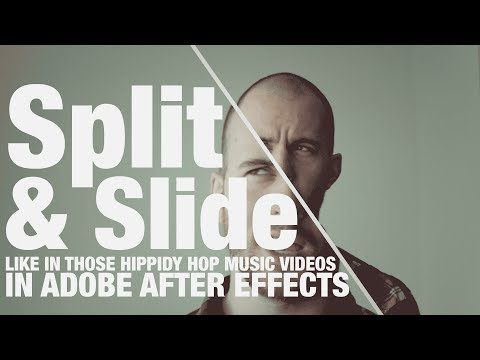 Split and Slide (like you see in the hippidy hop videos!) - Adobe After Effects tutorial - YouTube