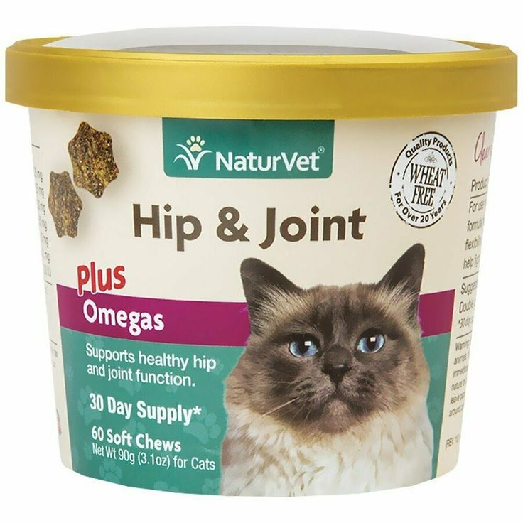 NaturVet Hip and Joint Plus Omega Cat Soft Chew Supplement