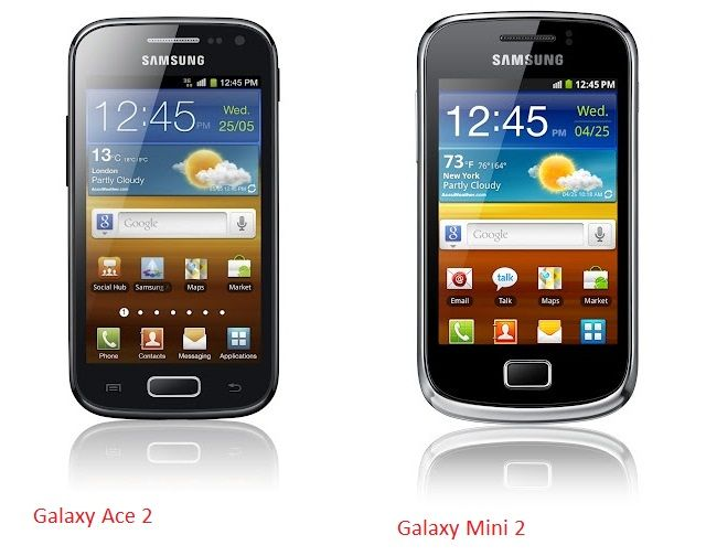 Galaxy Mini 2 and Galaxy Ace 2 come out before Mobile World Congress