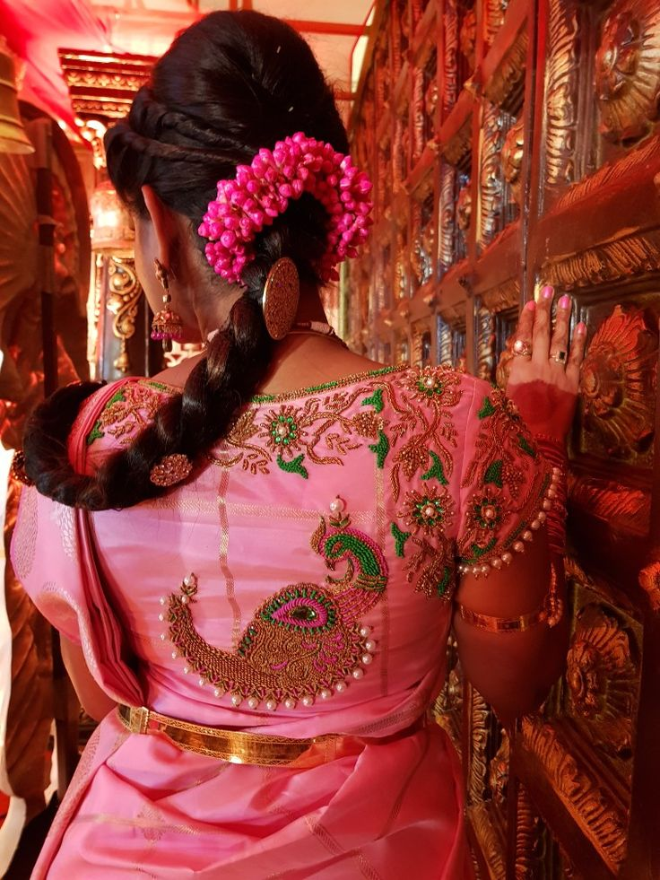 Silk blouse embroidery.