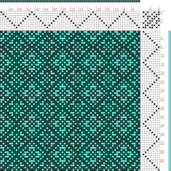 Hand Weaving Draft: Reversing Point Twill Flowers, Kris Bruland, 8S, 8T - Handweaving.net Hand Weaving and Draft Archive