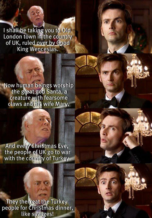 Loved this scene. I feel sad for people that just don't give Doctor Who a chance. Look at what they're missing!!!