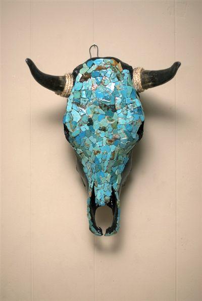 Turquoise Pools Ceramic Steer Skull $858