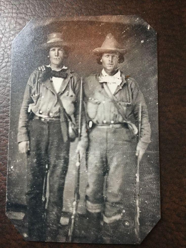 $9.99 BUY IT NOW IN STOCK Civil War Confederate Quantrills Raiders TinType C305NP