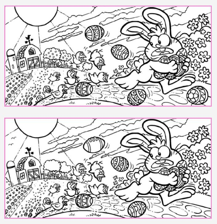 printable spot the differences for adults