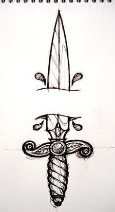 knife pencil drawings for tattoo - Google Search