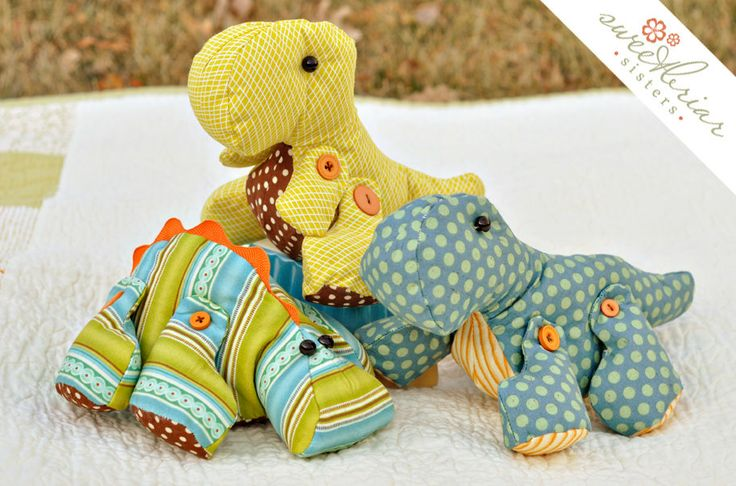 Adorable stuffed dinosaurs
