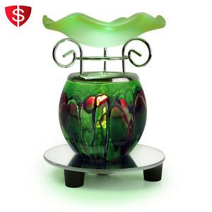 Electric-Scented-Oil-Warmer-Lamp-Wax-Tart-Burner-Bulb-Fragrance-Diffuser-Green