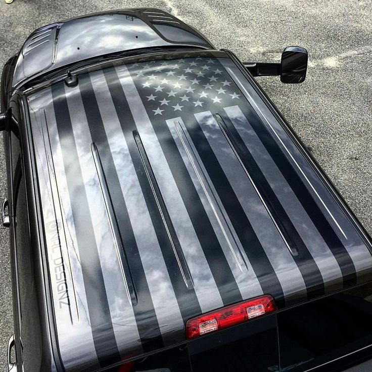 American flag roof graphic for my buddy @b_mitchell_22 on his new ram 2500 cummins megacab #American - nrl_designz