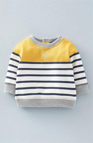 Mini Boden 'Cosy' Print Sweatshirt (Baby Boys & Toddler Boys) available at #Nordstrom