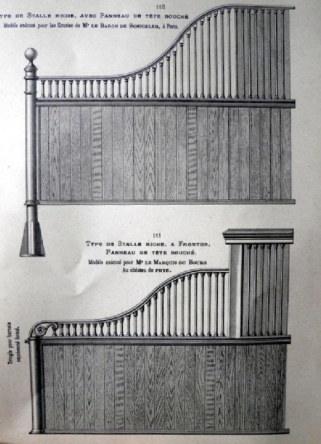 Description des écuries de luxe de la fin du XIX° siècle. Suite 1