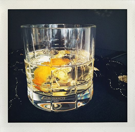 My favorite cocktail: Negroni bianco, with a tiny twist of orange (I huvudet på Elvaelva).