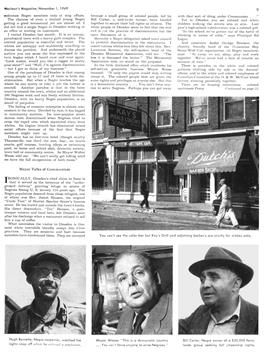 """9  """"Jim Crow Lives in Dresden""""  Sidney Katz. Maclean's (Canada), Nov. 1, 1949  pages 8-9, 51-52.   Subtitle: """"Uncle Tom sleeps uneasily in Ontario's Dresden where all men are not born equal, where his descendants can't get a store haircut, a permanent wave, or a restaurant meal."""""""