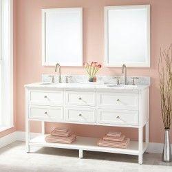 "60"" Robertson Double Vanity for Undermount Sinks - White - Undermount Sink Vanities - Bathroom Vanities - Bathroom"