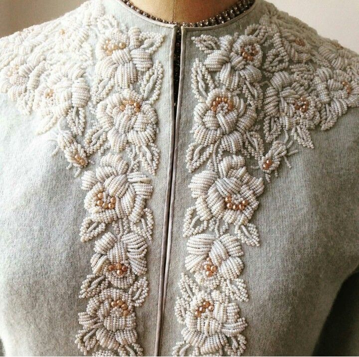 flower embroidery detail