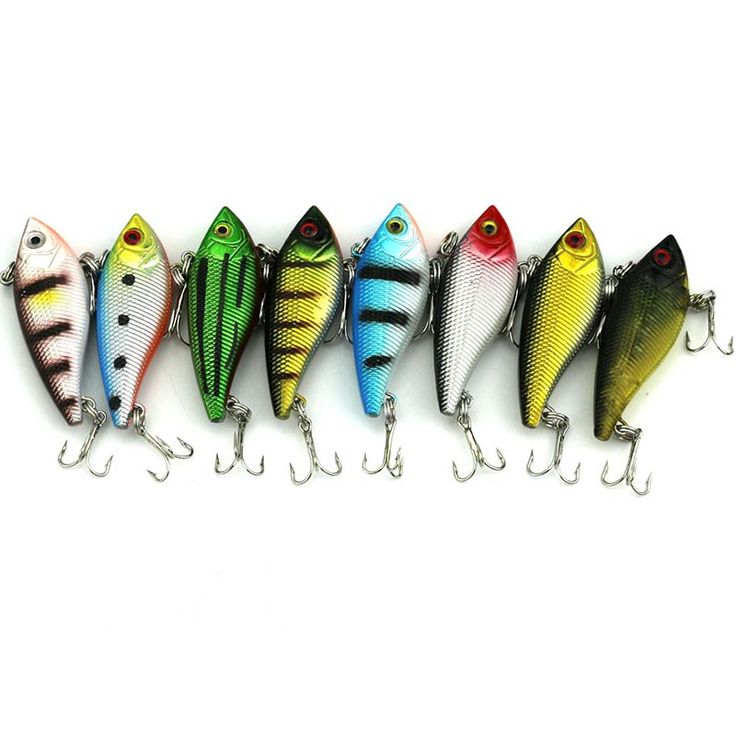 400pcs  5cm 6g hard game vib fishing lures bass wobbler pike carp trout perch catfish fishing baits pesca fishing tackles #Affiliate
