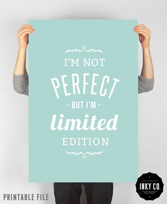 Typographic Quote Printable File Vintage Retro Poster  by INKYCO, $9.00