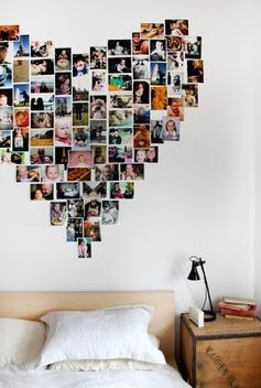 Everyday treasures fromThe Domestic Curator: Dorm Room Picture Collages - we love for any wall decor! #HomeGoodsHappy
