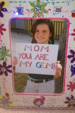 Mothers Day Crafts Gemstone Frame Sewing Fun Mothers Day