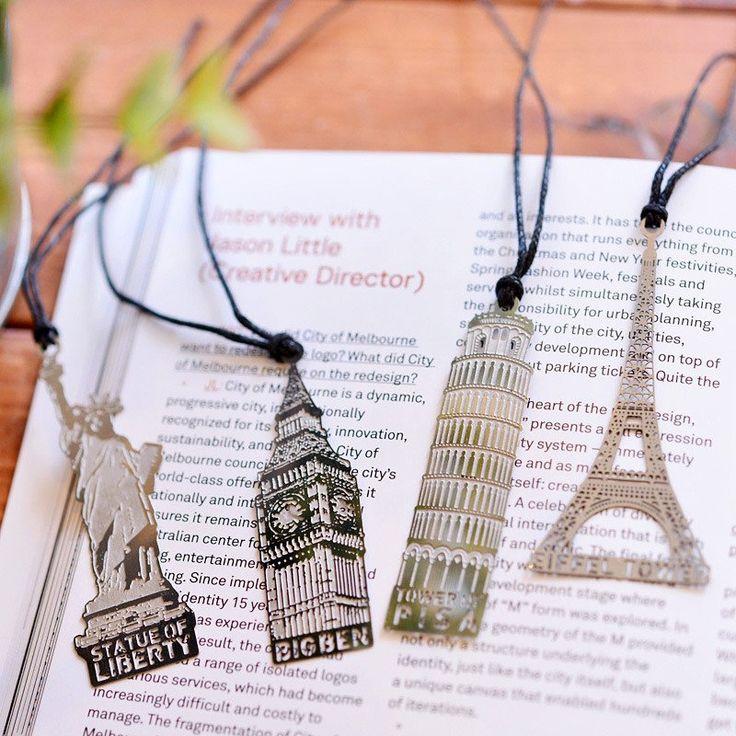 Travelers Metal Bookmark