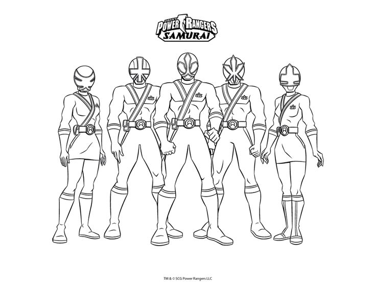 Printable coloring pages - Power Rangers (Superheroes)
