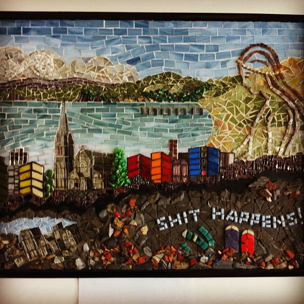 An artist's mosaic sums up the Christchurch earthquake.