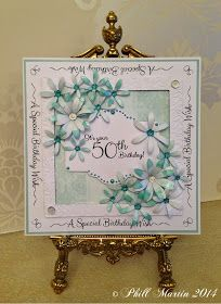 Phills' Crafty Place: Mintylicious.....french collection, delicate daisies, climbing vine EF. Sentimentally yours stamp