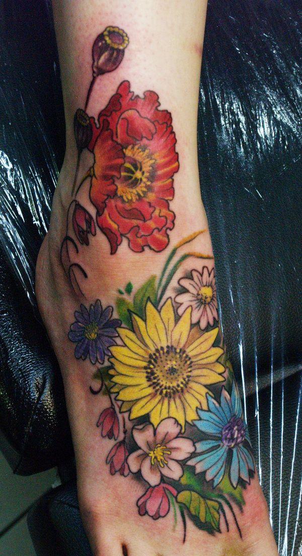 flowers tattoo by ~mojoncio on deviantART