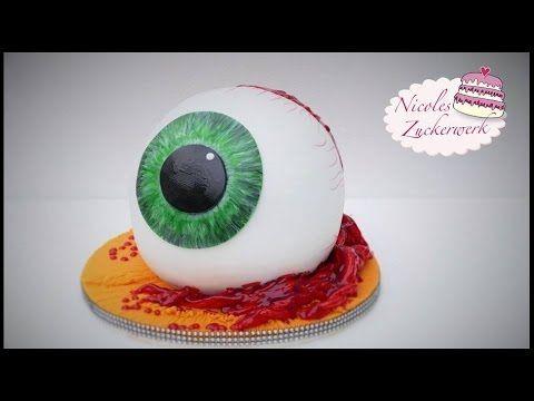 HALLOWEEN Augapfel-Torte | Eye Ball Cake | Tutorial von Nicoles Zuckerwerk