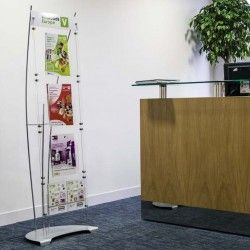 How to display brochures & leaflets - Dimensions Displays