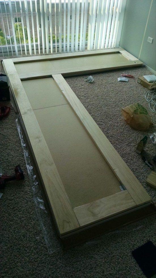 Reinforce With Pine Boards Ikea Hackers My Photo In 2019 Large Corner Desk Ikea Desk Ikea Linnmon Desk