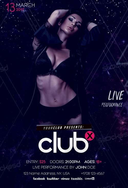 Club X Party Free PSD Flyer Template - http://freepsdflyer.com/club-x-party-free-psd-flyer-template/ Enjoy downloading the Club X Party Free PSD Flyer Template created by Stockpsd!   #Club, #Concert, #Dance, #Dj, #EDM, #Electro, #Gig, #Live, #Music, #Nightclub, #Party, #Sound