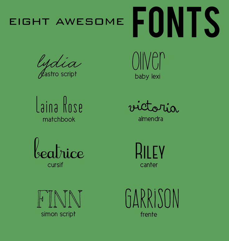 sweet inspirations EIGHT AWESOME FONTS