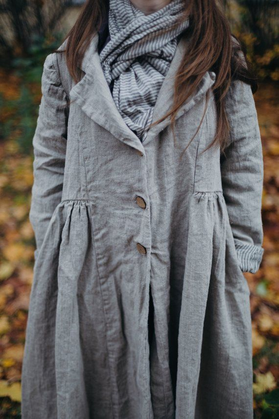"""OVERSIZED 100/% LINEN 2 POCKETS A-LINE VERY LONG JACKET**BLACK** BUST UP TO 50/"""""""