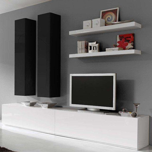Optez pour ce meuble tv design pour moderniser votre for Meuble mural pour tv