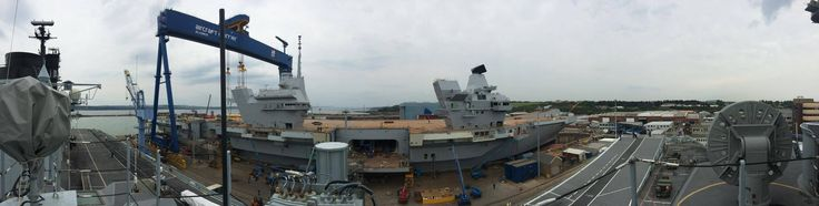 Panoramic view from the top of HMS Illustrious's island