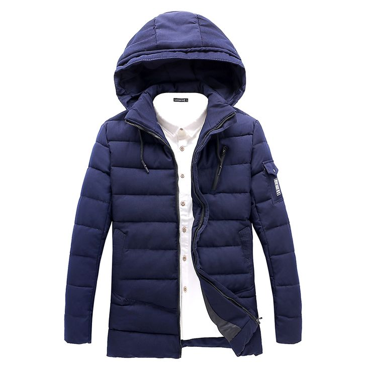 >> Click to Buy << 2016 New Men Parka Winter Cotton-padded Jacket Fashion Plus Size Man Coat Solid Hooded Casual Clothing Male hot sale #Affiliate