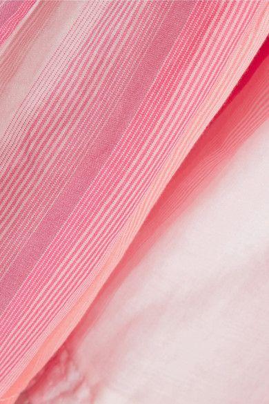 LemLem - Banu Striped Cotton-gauze Dress - Antique rose - medium