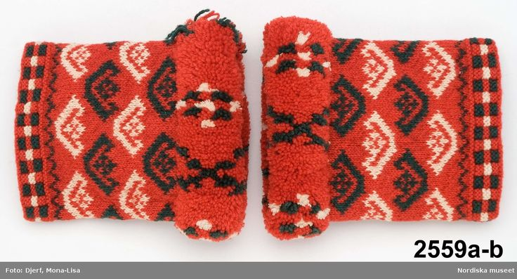 Male wedding cuffs, Delsbo, Hälsingland, ca 1830-60. Armmuddar @ DigitaltMuseum.se
