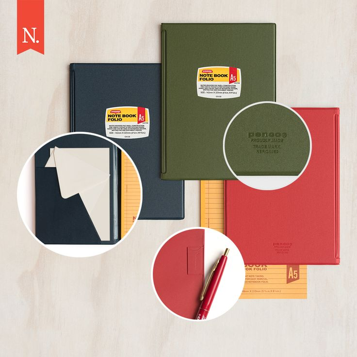 Take these HIGHTIDE notebooks everywhere and anywhere!