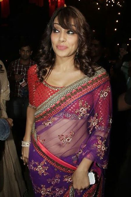 #BipashaBasu Purple Net Designer #Saree