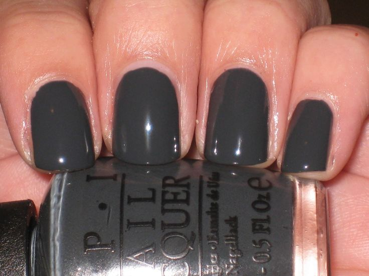 Gray OPI Nail Polish-Bridesmaid Bag