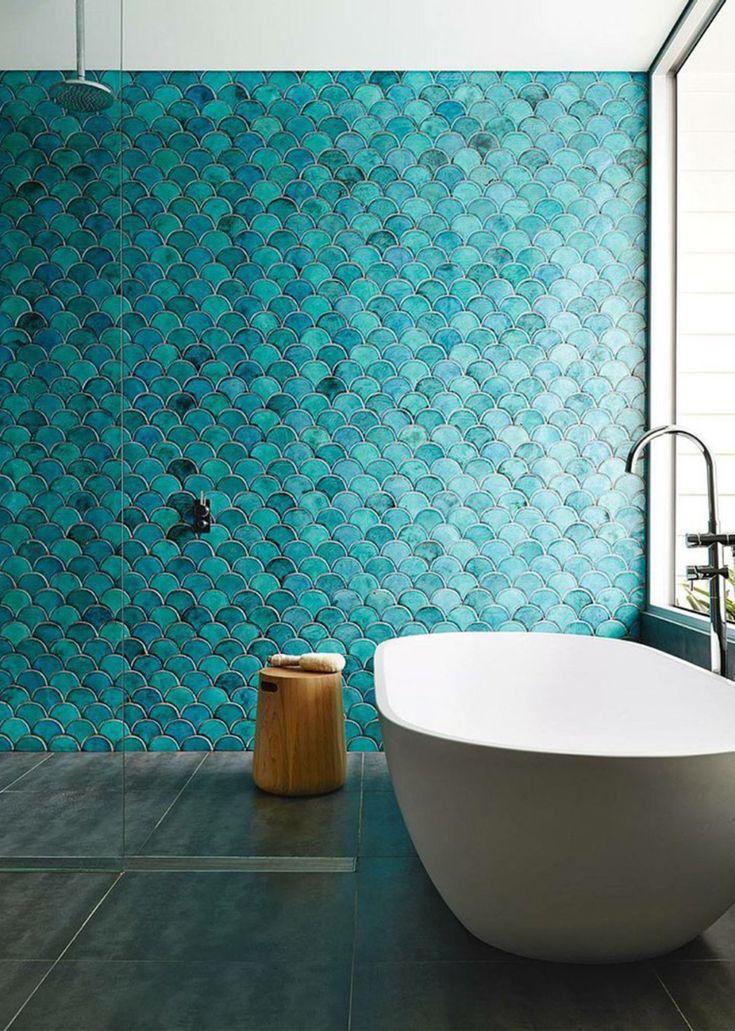 salle de bain quelle dco pour une douche italienne - Salle De Bain Turquoise Et Bois