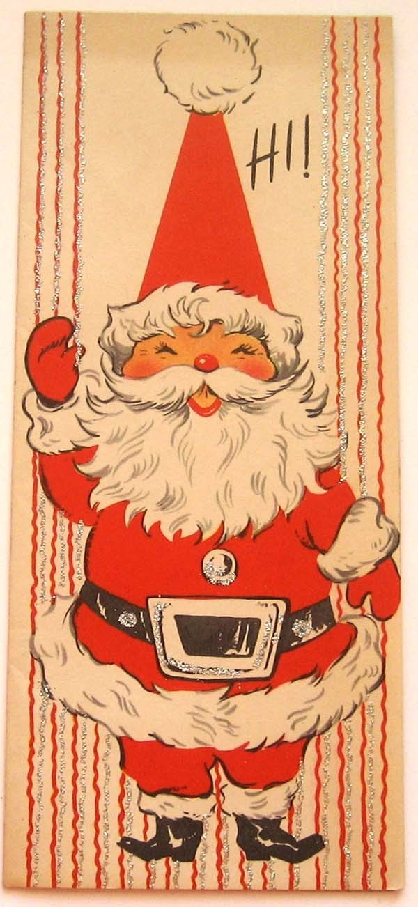 Merry★* 。 • ˚ ˚ ˛ ˚ ••  •。★Christmas★ 。* 。 ° 。 ° ˛*˚ ˚And a Happy New Year!~Vintage Santa Christmas card~
