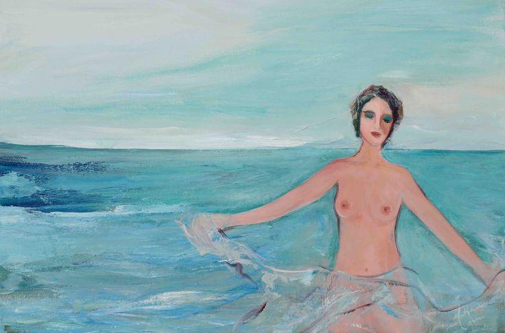 """Nathalie Voisine. Béatitude. Acrylic on Canvas. 24x36""""."""