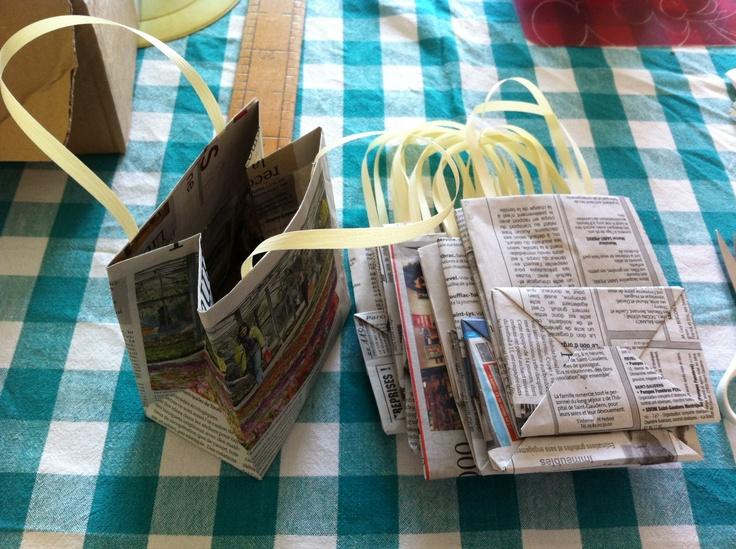 Petits sachets en papier recyclé pour la fête d'anniversaire des enfants