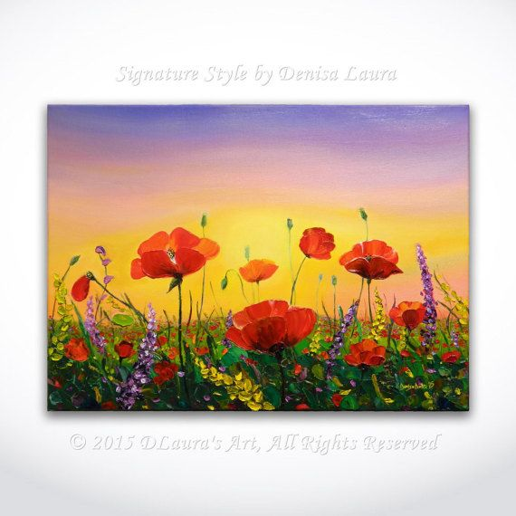 Hey, I found this really awesome Etsy listing at https://www.etsy.com/listing/245067190/abstract-poppy-sunrise-palette-knife