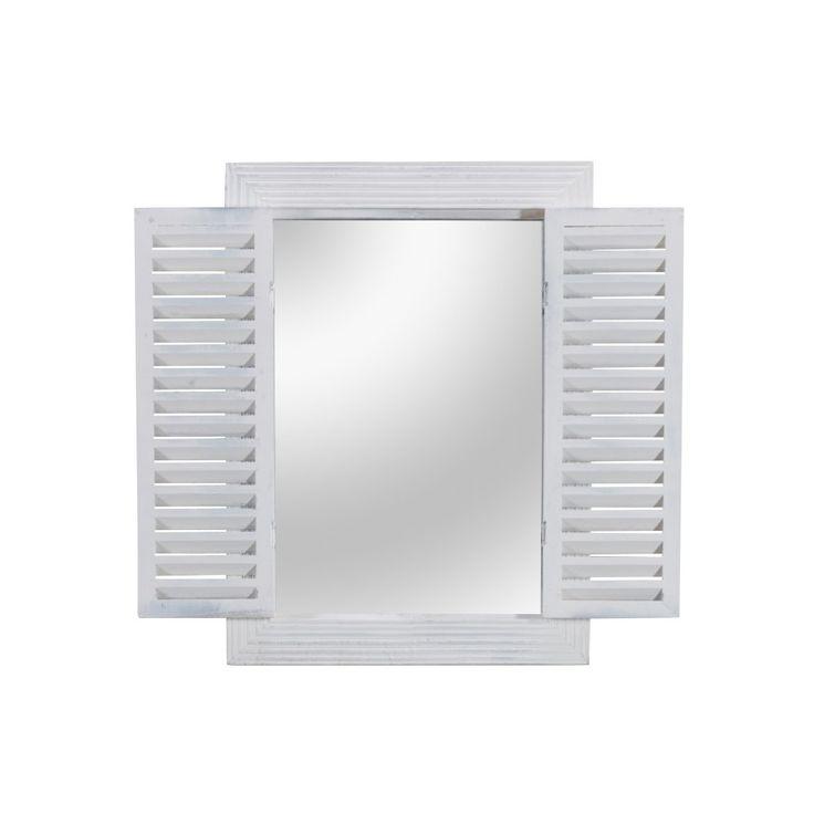 Spiegel mit Klappen (54x40/60, weiß)